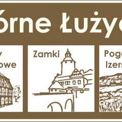 Tablica drogowa E-22c informująca o wjeździe na teren Górnych Łużyc – wielkiej atrakcji turystycznej (symulacja A. Lipin)