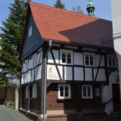 Muzeum Lokalne w Ostritz (grł. Wostrowc) mieści się w domu przysłupowo-szachulcowym – oryginalnym typie budownictwa łużyckiego (fot. A. Lipin)